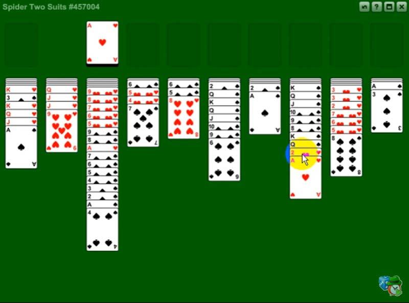 Игра карта паук пасьянс 2 масти играть бесплатно 2 масти как снять деньги заработанные в казино