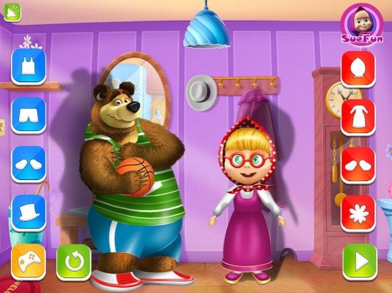 Игры для девочек маша и медведь бесплатно не раскраски